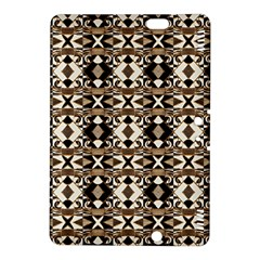 Geometric Tribal Style Pattern In Brown Colors Scarf Kindle Fire Hdx 8 9  Hardshell Case