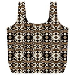 Geometric Tribal Style Pattern in Brown Colors Scarf Reusable Bag (XL)