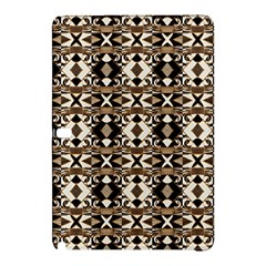 Geometric Tribal Style Pattern In Brown Colors Scarf Samsung Galaxy Tab Pro 10 1 Hardshell Case