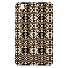 Geometric Tribal Style Pattern In Brown Colors Scarf Samsung Galaxy Tab Pro 8 4 Hardshell Case