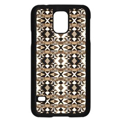 Geometric Tribal Style Pattern in Brown Colors Scarf Samsung Galaxy S5 Case (Black)
