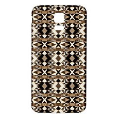 Geometric Tribal Style Pattern In Brown Colors Scarf Samsung Galaxy S5 Back Case (white)