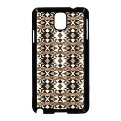 Geometric Tribal Style Pattern in Brown Colors Scarf Samsung Galaxy Note 3 Neo Hardshell Case (Black)