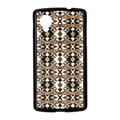Geometric Tribal Style Pattern in Brown Colors Scarf Google Nexus 5 Case (Black)