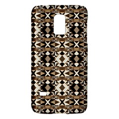 Geometric Tribal Style Pattern in Brown Colors Scarf Samsung Galaxy S5 Mini Hardshell Case