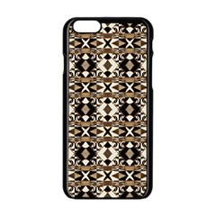 Geometric Tribal Style Pattern in Brown Colors Scarf Apple iPhone 6 Black Enamel Case