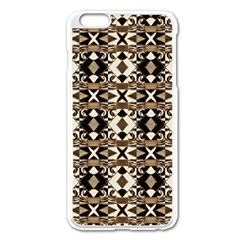 Geometric Tribal Style Pattern In Brown Colors Scarf Apple Iphone 6 Plus Enamel White Case