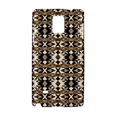 Geometric Tribal Style Pattern In Brown Colors Scarf Samsung Galaxy Note 4 Hardshell Case