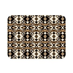 Geometric Tribal Style Pattern In Brown Colors Scarf Double Sided Flano Blanket (mini)