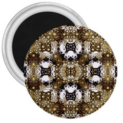 Baroque Ornament Pattern Print 3  Button Magnet