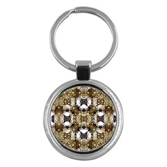 Baroque Ornament Pattern Print Key Chain (round)