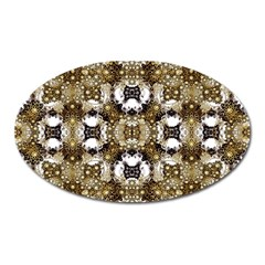 Baroque Ornament Pattern Print Magnet (oval)