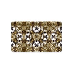 Baroque Ornament Pattern Print Magnet (name Card)