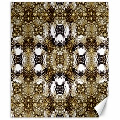 Baroque Ornament Pattern Print Canvas 20  X 24  (unframed)