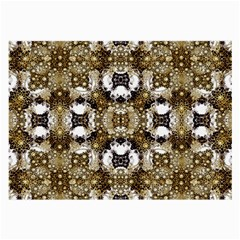 Baroque Ornament Pattern Print Glasses Cloth (large, Two Sided)