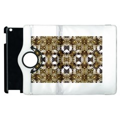 Baroque Ornament Pattern Print Apple Ipad 2 Flip 360 Case