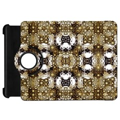 Baroque Ornament Pattern Print Kindle Fire Hd Flip 360 Case