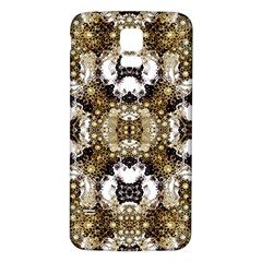 Baroque Ornament Pattern Print Samsung Galaxy S5 Back Case (White)