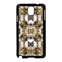 Baroque Ornament Pattern Print Samsung Galaxy Note 3 Neo Hardshell Case (Black)