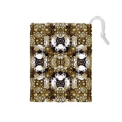 Baroque Ornament Pattern Print Drawstring Pouch (Medium)