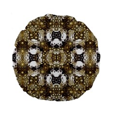 Baroque Ornament Pattern Print 15  Premium Flano Round Cushion