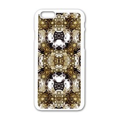 Baroque Ornament Pattern Print Apple iPhone 6 White Enamel Case