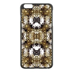 Baroque Ornament Pattern Print Apple Iphone 6 Plus Black Enamel Case