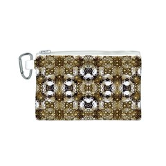 Baroque Ornament Pattern Print Canvas Cosmetic Bag (small)
