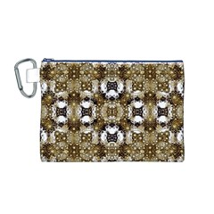 Baroque Ornament Pattern Print Canvas Cosmetic Bag (medium)