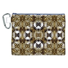 Baroque Ornament Pattern Print Canvas Cosmetic Bag (XXL)