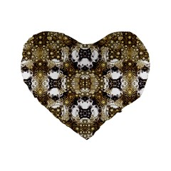 Futuristic Grid Pattern Design Print 16  Premium Flano Heart Shape Cushion