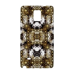 Futuristic Grid Pattern Design Print Samsung Galaxy Note 4 Hardshell Case