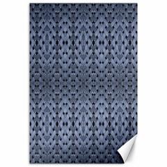 Futuristic Geometric Pattern Design Print in Blue Tones Canvas 24  x 36  (Unframed)