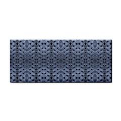 Futuristic Geometric Pattern Design Print In Blue Tones Hand Towel