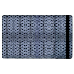 Futuristic Geometric Pattern Design Print In Blue Tones Apple Ipad 3/4 Flip Case
