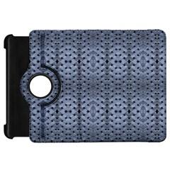 Futuristic Geometric Pattern Design Print In Blue Tones Kindle Fire Hd Flip 360 Case