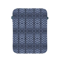 Futuristic Geometric Pattern Design Print In Blue Tones Apple Ipad Protective Sleeve
