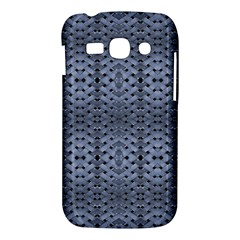 Futuristic Geometric Pattern Design Print in Blue Tones Samsung Galaxy Ace 3 S7272 Hardshell Case
