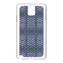 Futuristic Geometric Pattern Design Print in Blue Tones Samsung Galaxy Note 3 N9005 Case (White)
