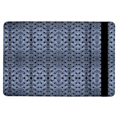 Futuristic Geometric Pattern Design Print in Blue Tones Apple iPad Air Flip Case