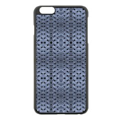 Futuristic Geometric Pattern Design Print In Blue Tones Apple Iphone 6 Plus Black Enamel Case