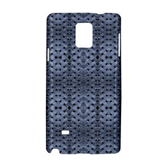 Futuristic Geometric Pattern Design Print in Blue Tones Samsung Galaxy Note 4 Hardshell Case