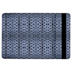 Futuristic Geometric Pattern Design Print in Blue Tones Apple iPad Air 2 Flip Case