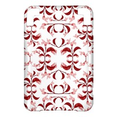 Floral Print Modern Pattern in Red and White Tones Kindle 3 Keyboard 3G Hardshell Case