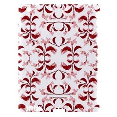 Floral Print Modern Pattern In Red And White Tones Apple Ipad 3/4 Hardshell Case (compatible With Smart Cover)