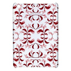 Floral Print Modern Pattern In Red And White Tones Apple Ipad Mini Hardshell Case