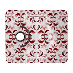 Floral Print Modern Pattern in Red and White Tones Samsung Galaxy S  III Flip 360 Case
