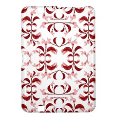 Floral Print Modern Pattern In Red And White Tones Kindle Fire Hd 8 9  Hardshell Case
