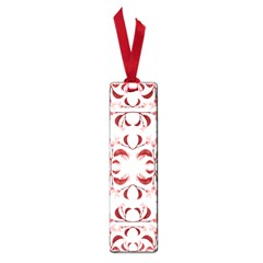 Floral Print Modern Pattern In Red And White Tones Small Bookmark