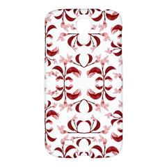 Floral Print Modern Pattern In Red And White Tones Samsung Galaxy S4 I9500/i9505 Hardshell Case